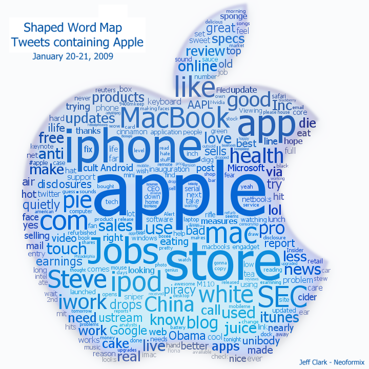Apple Twitter Word Map - Word map