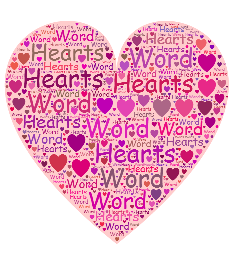 Word Hearts Updated